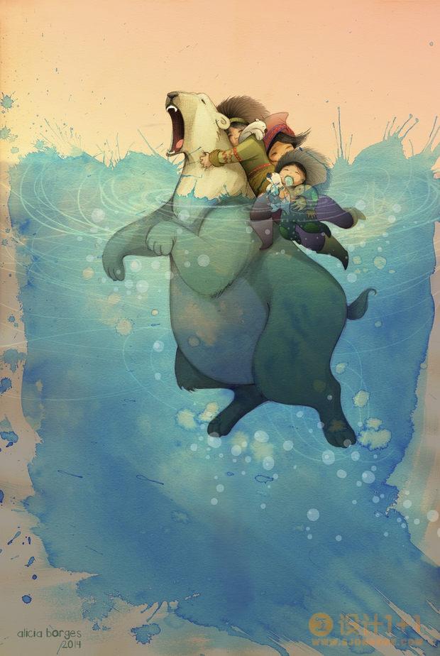 Alicia Borges幻想儿童插画欣赏