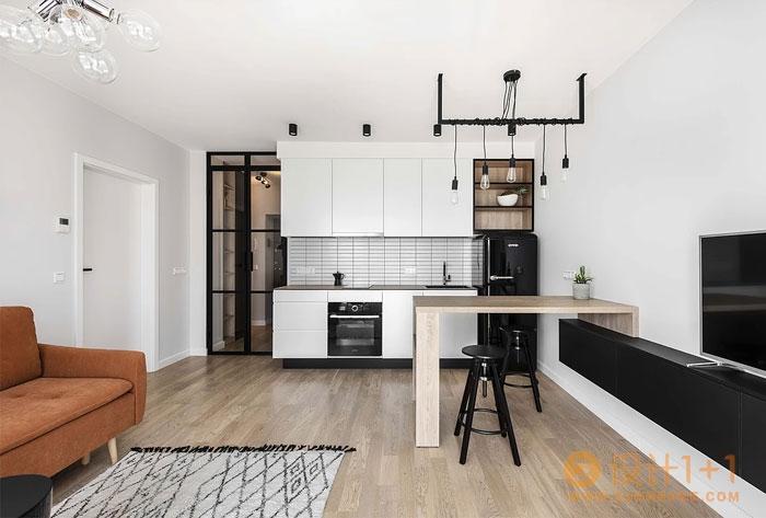 46平米时尚现代的迷你公寓