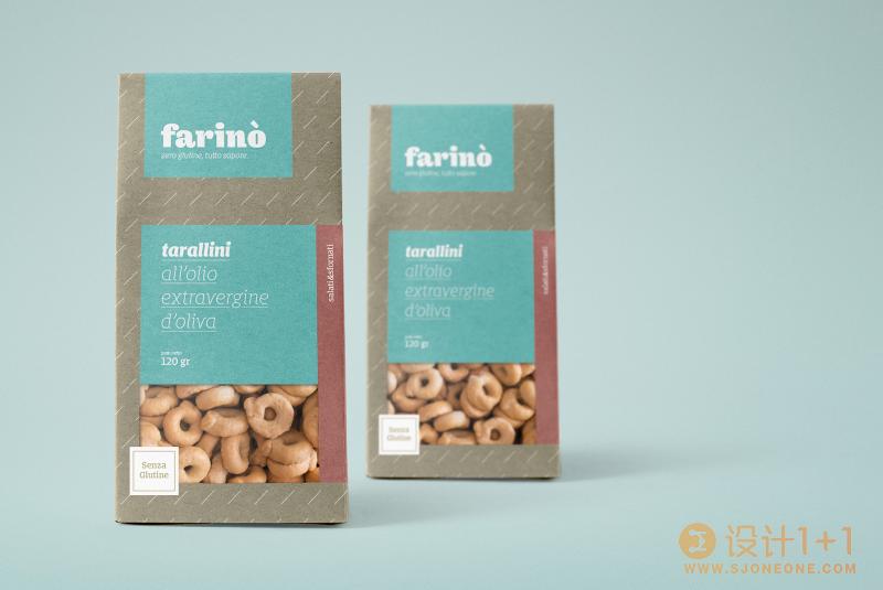 Farinò无麸质面包店品牌和包装设计