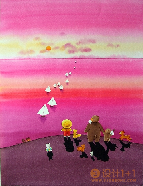 小谷悦子可爱童趣插画欣赏