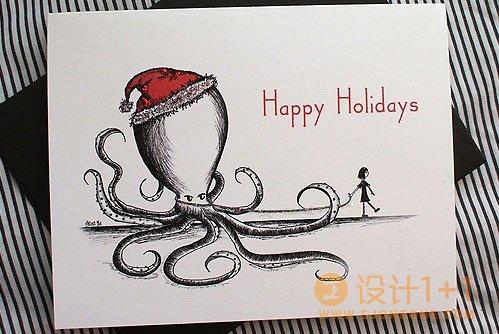 创意圣诞贺卡设计