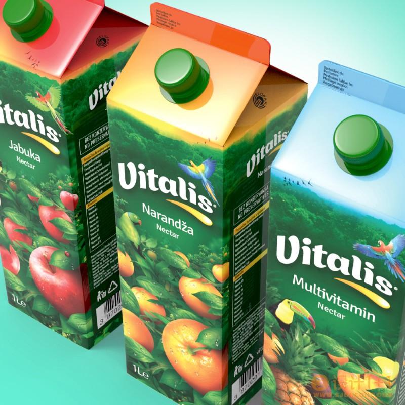 Vitalis果汁包装设计