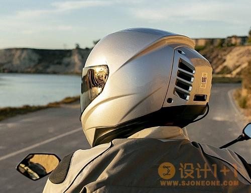 自带空调的摩托头盔设计