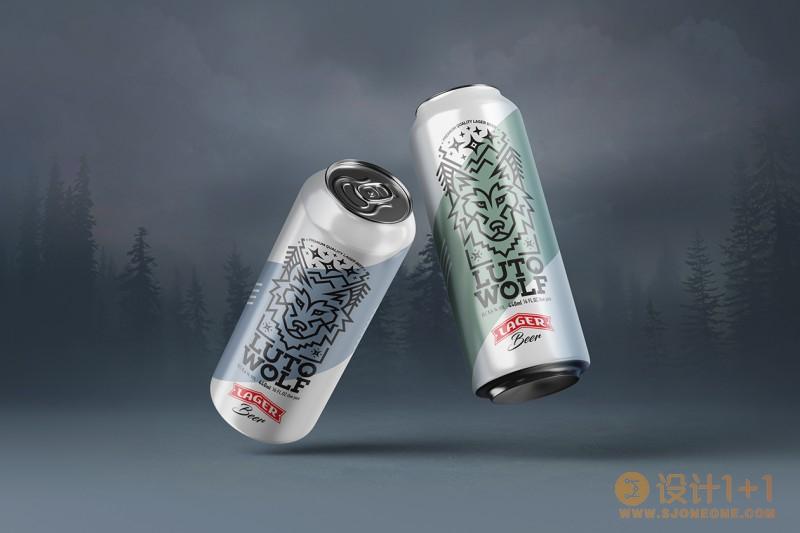LutoWolf Lager啤酒包装设计