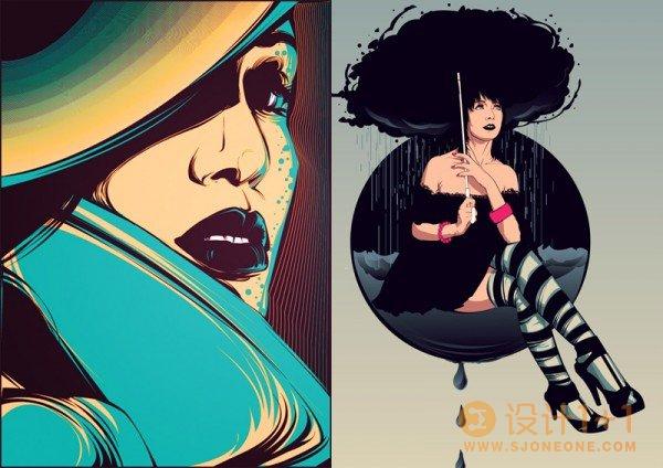 超酷色彩的矢量插画欣赏