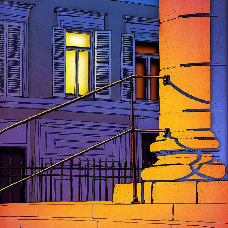 活力的巴黎之夜:Brigitta Racz插画作品欣赏