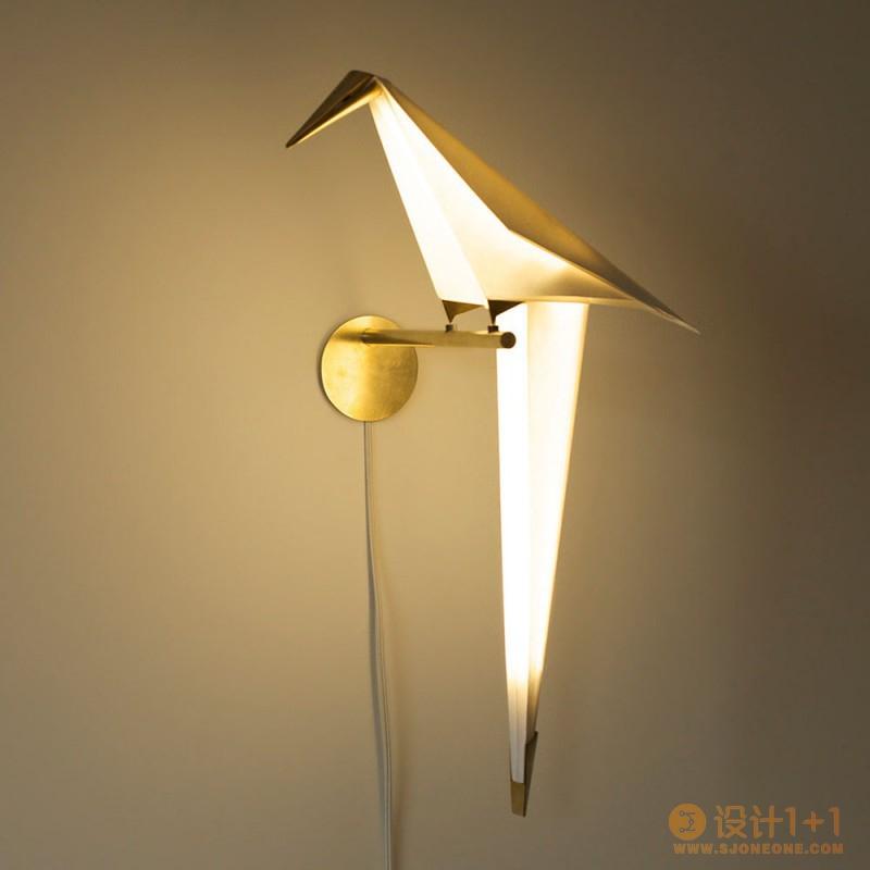 充满诗意的折纸鸟灯