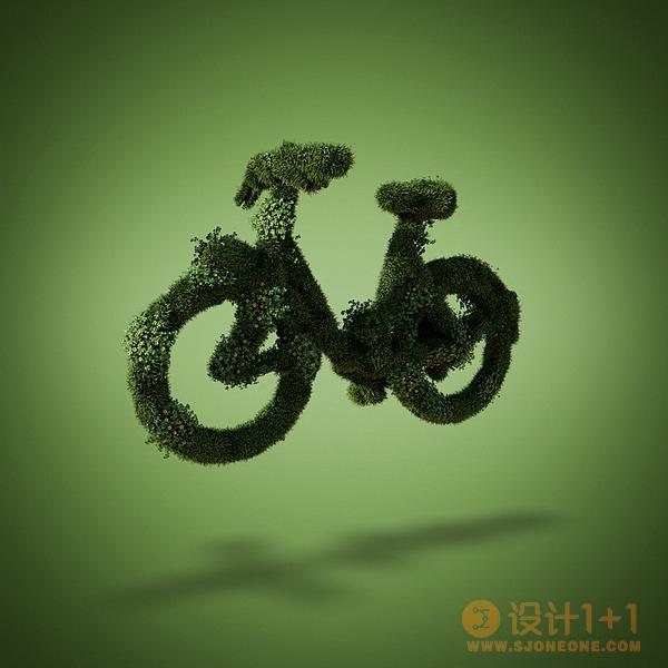 David Brodeur草的3D造型艺术