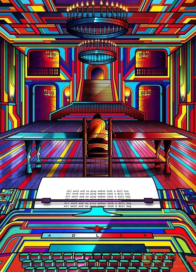 Van Orton霓虹风格电影场景插画设计
