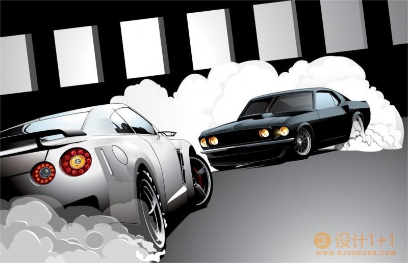 30张矢量汽车插画欣赏