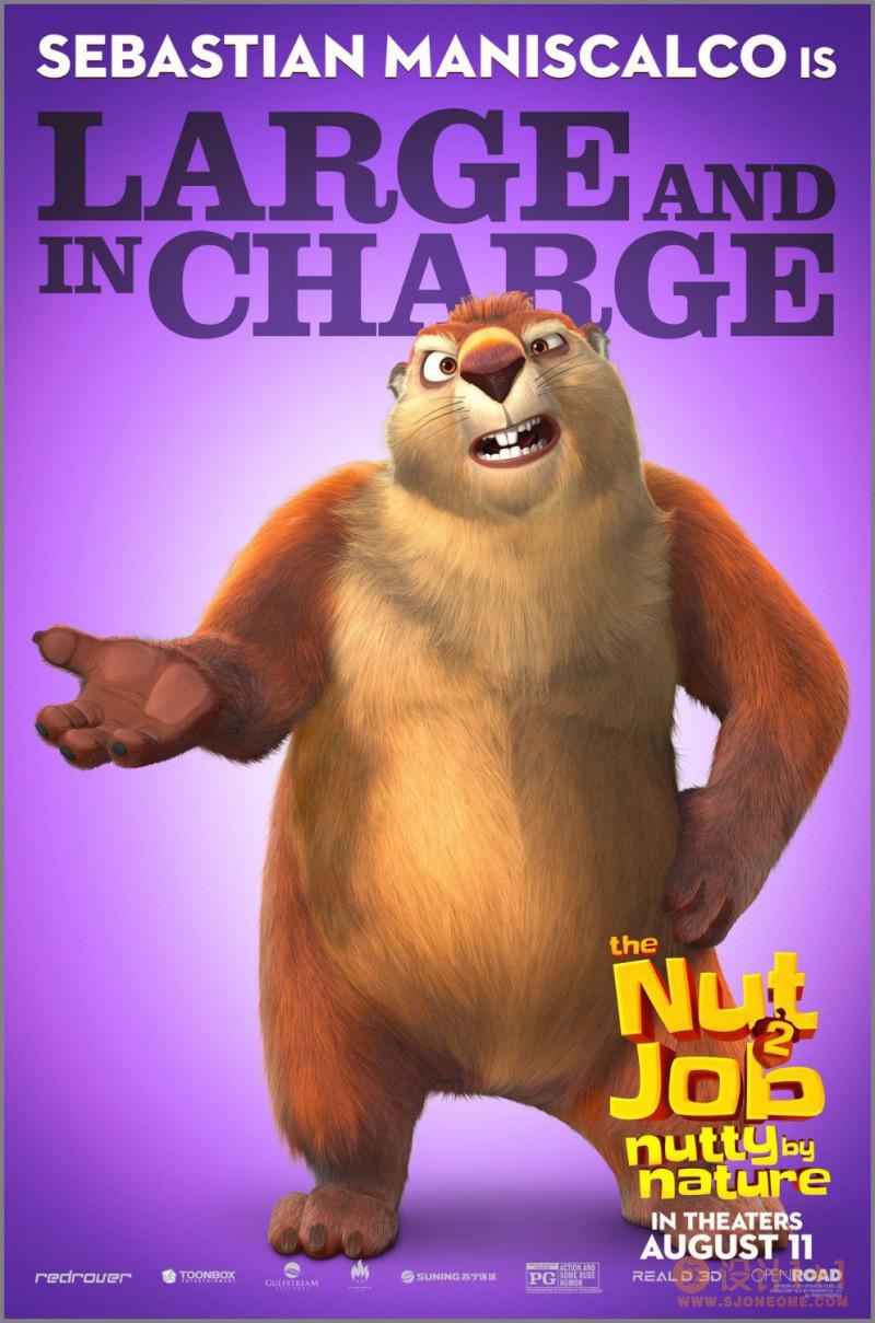 电影海报欣赏:抢劫坚果店2 The Nut Job 2: Nutty by Nature