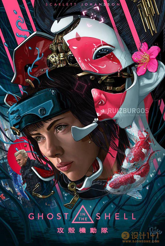 插画风格电影海报设计作品