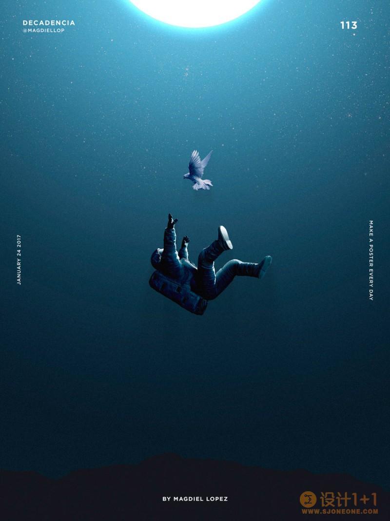 一日一海报:Magdiel Lopez海报设计作品