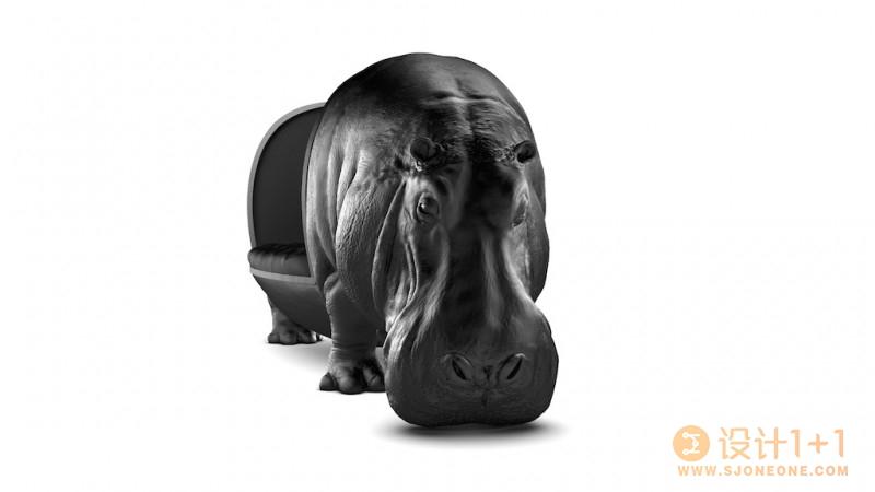 Maximo Riera动物系列座椅:河马椅