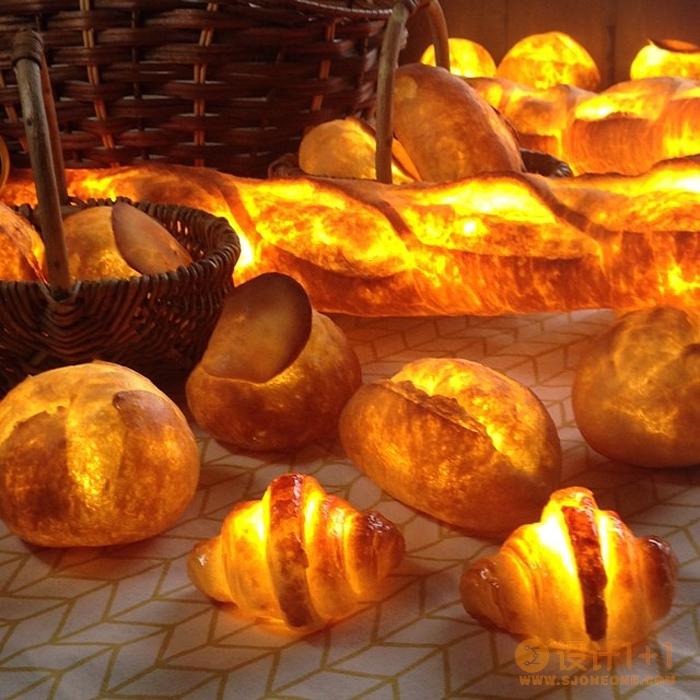 morita yukiko设计的诱人面包灯(Pampshade)