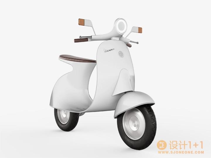 经典车款外形的Vespampère电动摩托车