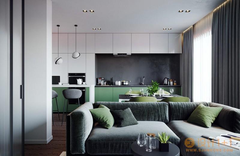 4个亲近自然的绿色系住宅装修设计